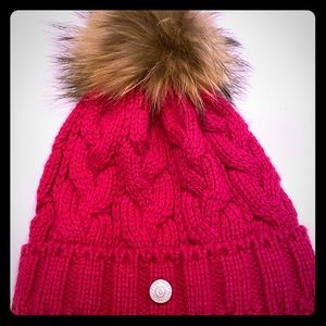 Bogner Accessories - Bogner Fire and Ice Knit hat with Raccoon Fur Pom